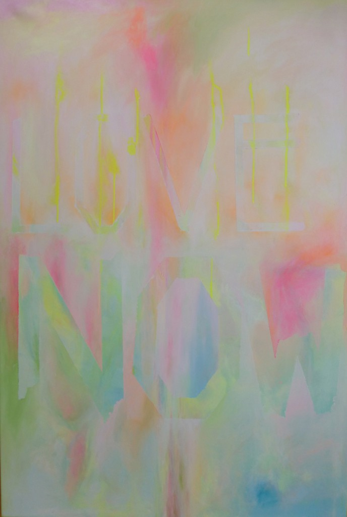 LOVENOW 85':120' acrylic:acrylicspray on canvas